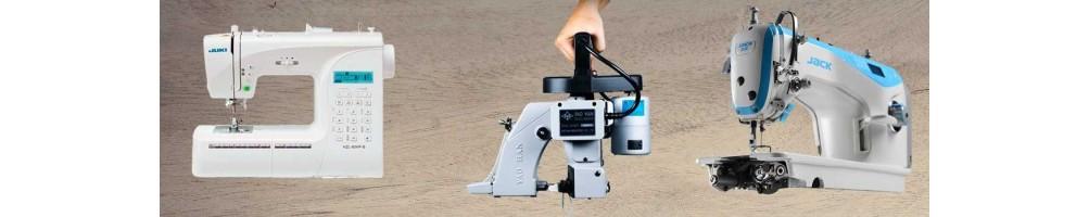 Máquinas de coser domesticas e industriales